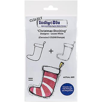 "IndigoBlu Clear Stamp 5""X4""-Christmas Stocking"