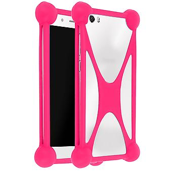 Mocca Silicone Shockproof Universal Protection Case Smartphone Pink