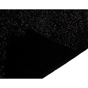 30x23cm Black Best Quality Acrylic Glitter Felt Fabric Sheet for Crafts