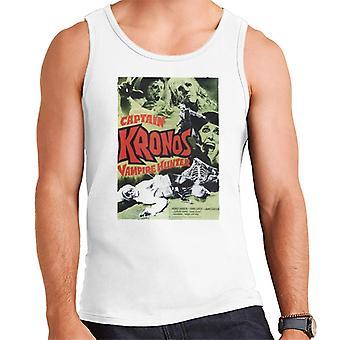Hammer Horror films Captain Kronos klassieke poster mannen ' s vest
