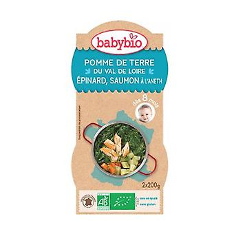 Organic Salmon Spinach Menu (from 8 Months) 2 units of 200g