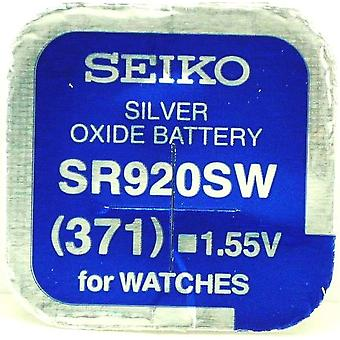 Seiko 371 (sr920sw) 1.55v Silver Oxide (0%hg) Mercury Free Watch Battery - Made In Japan