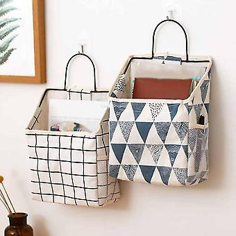 Lattice Hanging Storage Bag Bedside Storage Organizer - Carnet de téléphone de chambre