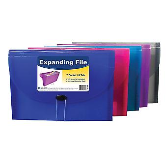 58300BNDL4EA, 7-Pocket Letter Size Expanding File (Color May Vary) (Set of 4 Files)