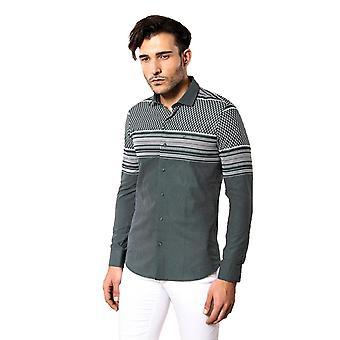 قميص أخضر منقوشة للرجال | wessi
