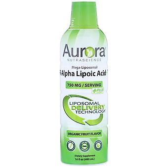 Aurora Nutrascience, Mega-Liposomal R-Alpha Lipoic Acid, Organic Fruit Flavor, 7