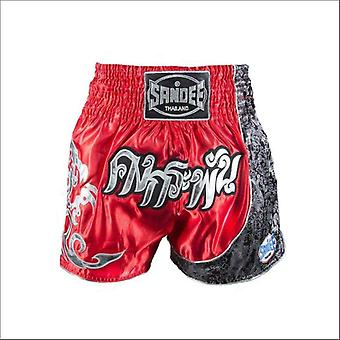 Sandee unbreakable thai shorts - red silver
