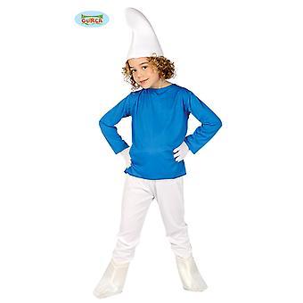 Crianças de anão azul fantasia carnaval jovem do GNOME