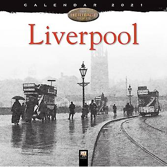 Liverpool Heritage Wall Calendar 2021 Art Calendar by Created by Flame Tree Studio