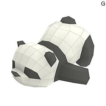 الإبداعية 3d الباندا Diy دليل نموذج ورقة شنقا للعبة للأطفال