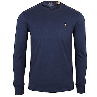 Ralph lauren men's spring navy long sleeve pima t-shirt