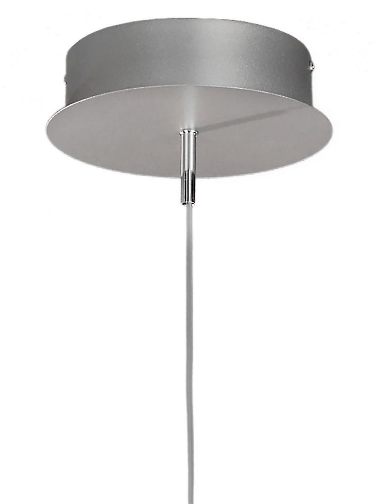 Ceiling Pendant 100cm Round 60W 3000K, 4800lm, Dimmable Silver, Frosted Acrylic, Polished Chrome