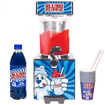 Slush Šteňa stroj + papierové poháre + modrý sirup