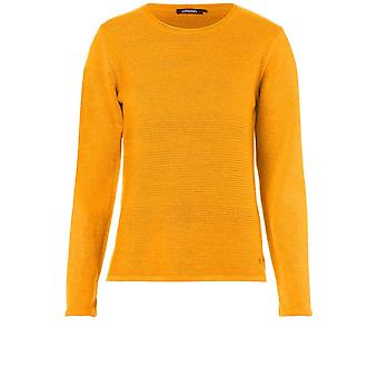 Olsen Ribbed Knit Amber Jumper