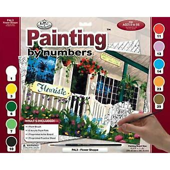 Paint by Number Set Adult Large - Flower Shoppe