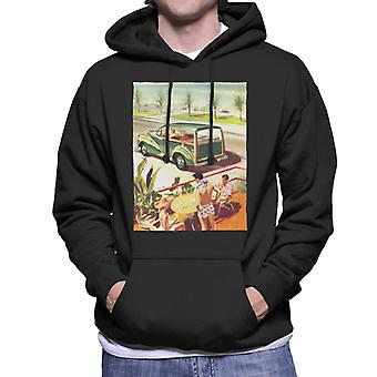 Morris Traveller Summer British Motor Heritage Men's Hooded Sweatshirt