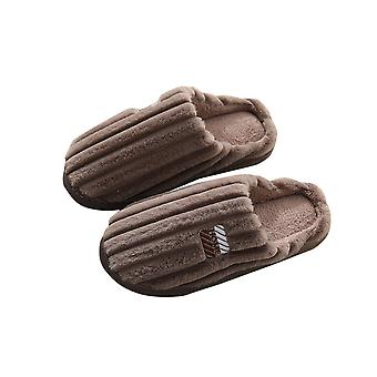 Thick Warm Comfortable Soft Plush Couple Slippers-male