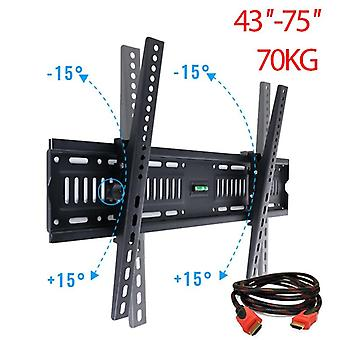 Universal Adjustable Wall Mount Bracket For Hdtvled Lcd Tv (suitable Size: 32''-65'' Any Brand Tv)