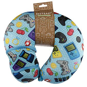Retro Gaming Game Over Relaxeazzz Travel Pillow & Eye Mask Set