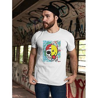 SmileyWorld Colorful Graffiti Skull Smile Men's T-shirt