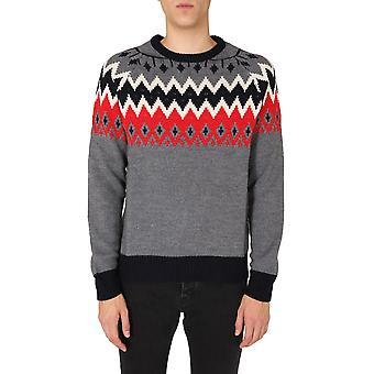 Msgm 2940mm15720759296 Mænd's Grey Wool Sweater