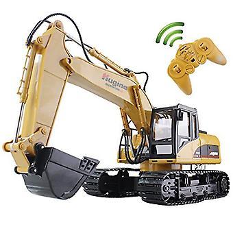 Huina Rc Kaivinkone - 15ch 2.4g Kauko-ohjattava kuorma-auto, Crawler Digger Malli