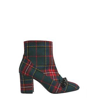 N°21 8571kiltrosso Women's Red/green Cotton Ankle Boots