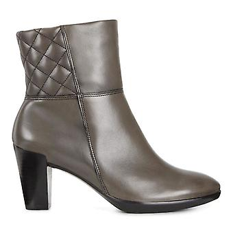 ECCO Womens 55 Plateau Stack Almond Toe Ankle Fashion Boots