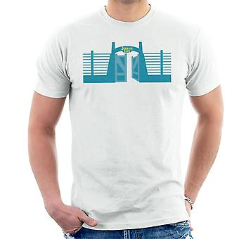 Jurassic Park Entrance Open Gate Men's T-Shirt