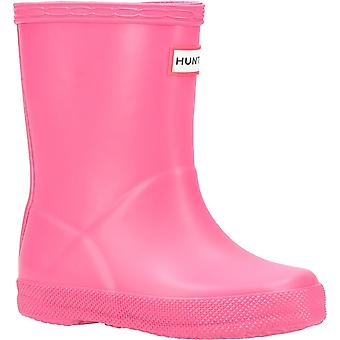 Hunter Kids First Classic Wellington Boot Bright Pink