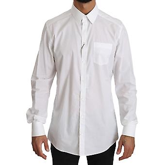 Chemise formelle à manches longues blanches Dolce & Gabbana