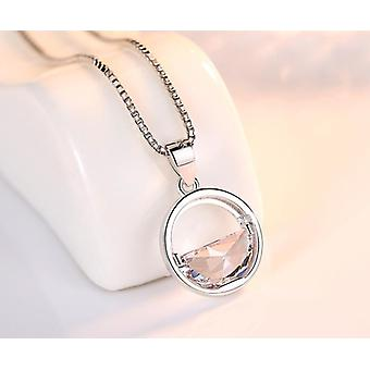 Women's Fashion Jewelry High-quality Crystal Zircon Round Retro Simple Pendant