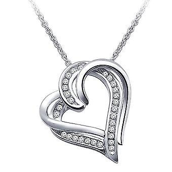 0,90 Karat Double Heart Diamond Hänge