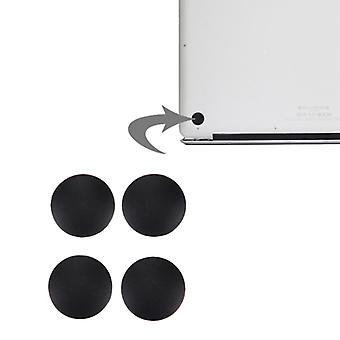 4 PCS ل Macbook الهواء 11.6 بوصة & 13.3 بوصة (2010-2015) القاع حالة المطاط الحصير (أسود)