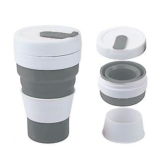 Summit Mybento Grande Pop Cup 450ml Opvouwbare Siliconen Coffee Cup Mok Travel Foldable - Zwart