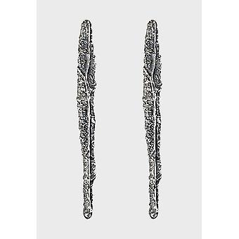 Brincos kalevala feminino a coleção KUU Prata 2651452T