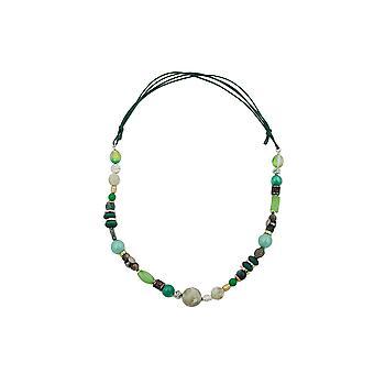 Necklace Light Green Dark Green Multicolour Design