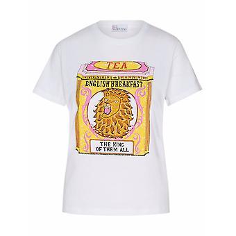 Red Valentino Vr3mg09m5q4001 Women's White Cotton T-shirt