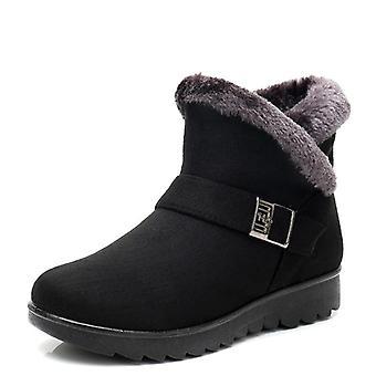 Winter Warm Short Fur Plush Ankle Plus Size Platform Boot Ladies Shoes