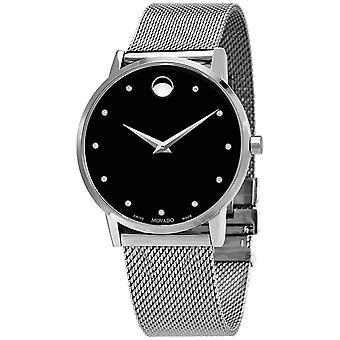 Movado Men's Museum Black Dial Watch - 607511