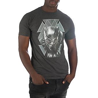 Black panther geometric face t-shirt tee shirt