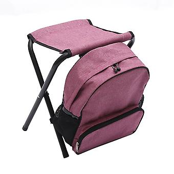 Red Wine Oxford Cloth Steel Pipe Multifunction Detachable Backpack Folding Chair