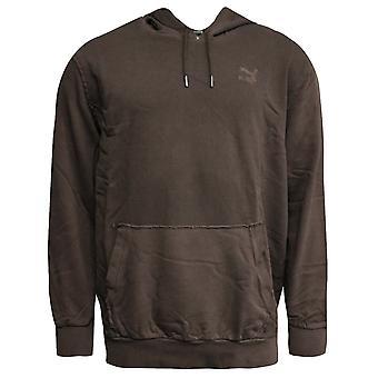 Puma Mens Distressed Pullover Jumper Sweatshirt Hoodie Brown 575306 02 A94E