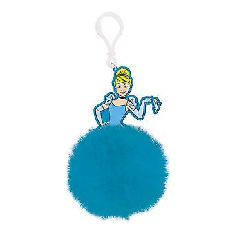 Cinderella Ballgown Pom Pom Keyring