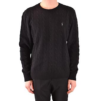 Ralph Lauren Ezbc037218 Mænd's Black Wool Sweater