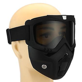 Protective Glasses With Mask Windproof Anti-uv Eyewear Goggles Off-road Helmet