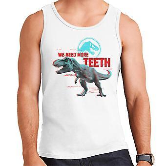 Jurassic Park T Rex Wir brauchen mehr Zähne Männer's Weste