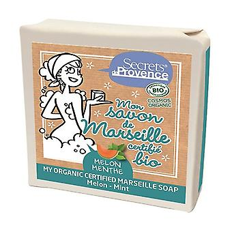 Organic Marseille soap Melon / Mint 2 units