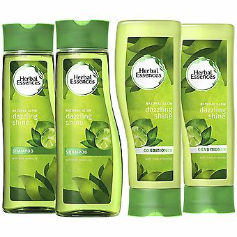 Pack Of 2 Herbal Essences Duo's Shampoo & Conditioner- 400ml, Dazzling Shine
