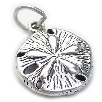 Sand Dollar Sterling Silver Charm 925 X1 Sea Cookie Snapper Biscuit - 461